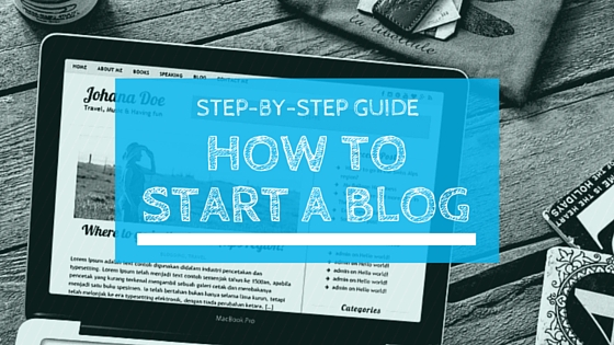 HOW TOSTART A BLOG