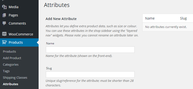 adding-attributes-wordpress-start-store-online