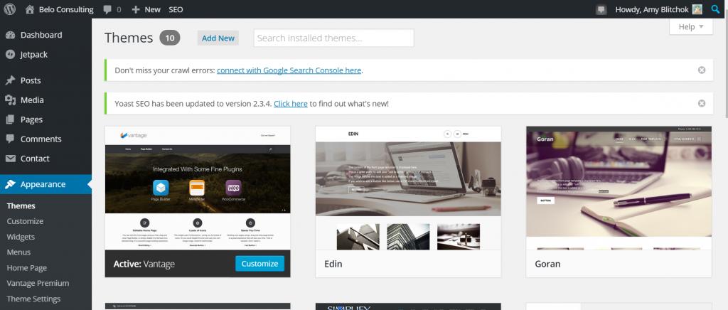 change-theme-wordpress-online-store